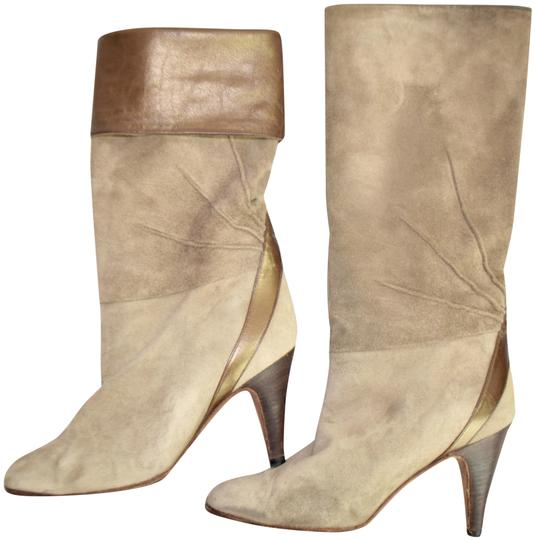 Fragiacomo Suede Leather Vintage Made In Italy Tan Boots Image 0