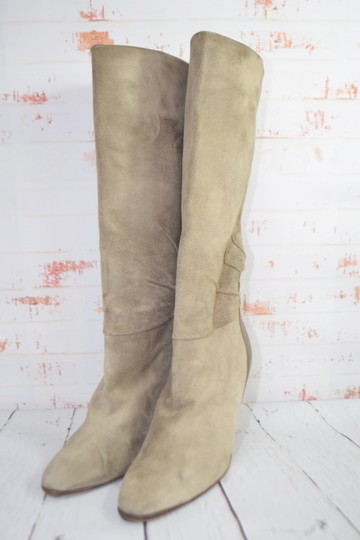 Fragiacomo Suede Leather Vintage Made In Italy Tan Boots Image 1