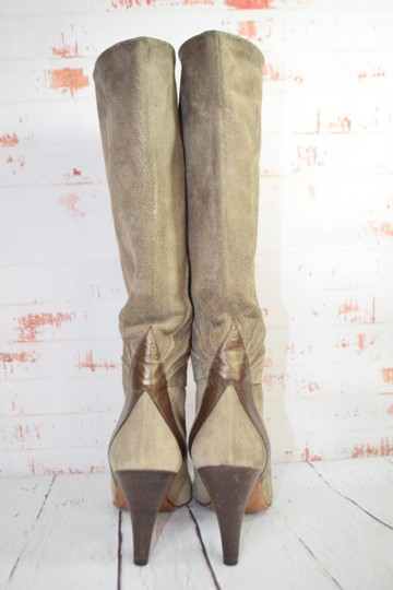 Fragiacomo Suede Leather Vintage Made In Italy Tan Boots Image 2