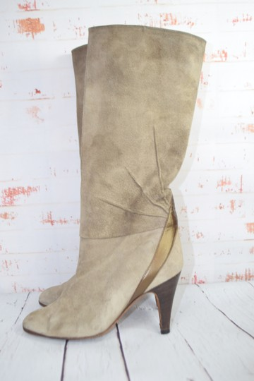 Fragiacomo Suede Leather Vintage Made In Italy Tan Boots Image 3