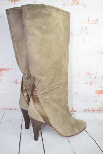 Fragiacomo Suede Leather Vintage Made In Italy Tan Boots Image 4