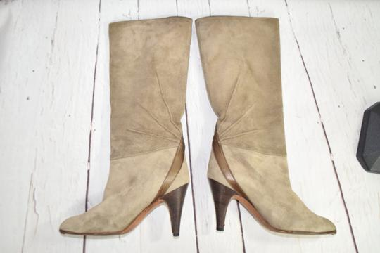 Fragiacomo Suede Leather Vintage Made In Italy Tan Boots Image 5