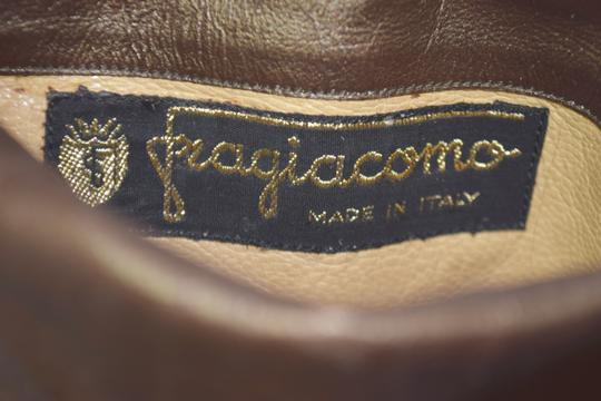 Fragiacomo Suede Leather Vintage Made In Italy Tan Boots Image 9