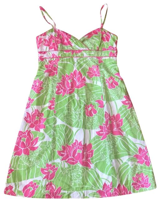 Preload https://img-static.tradesy.com/item/25830104/lilly-pulitzer-floral-green-and-pink-sz4-short-casual-dress-size-4-s-0-1-650-650.jpg