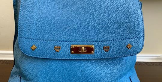 MCM 3way Pebbled Leather Studded Shoulder Bag Image 1