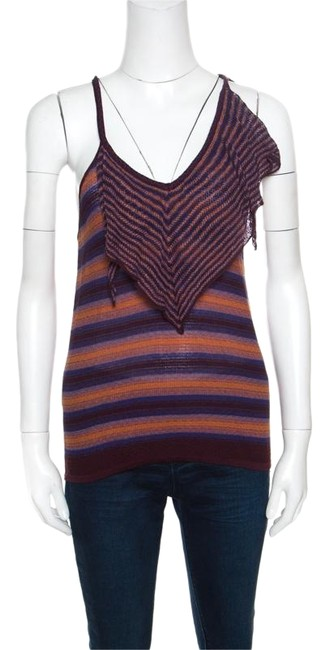 Preload https://img-static.tradesy.com/item/25830236/m-missoni-multicolor-brown-and-blue-striped-tie-detail-racer-back-blouse-size-8-m-0-1-650-650.jpg