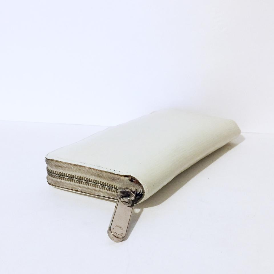 5bbae24dade Louis Vuitton White Lv Beige Epi Leather Continental Long Zip Wallet 81%  off retail