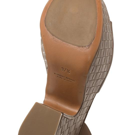 Bottega Veneta Leather Platform Brown Sandals Image 10