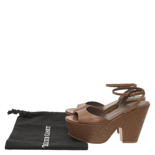 Bottega Veneta Leather Platform Brown Sandals Image 11