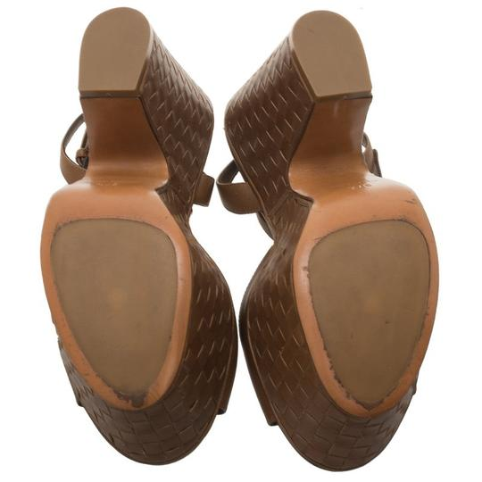 Bottega Veneta Leather Platform Brown Sandals Image 3