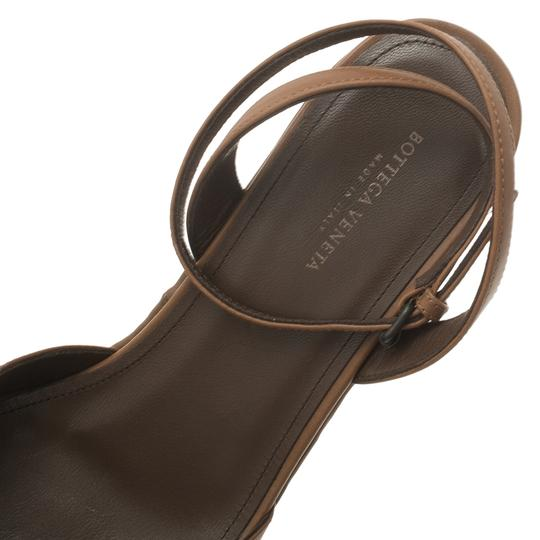Bottega Veneta Leather Platform Brown Sandals Image 9