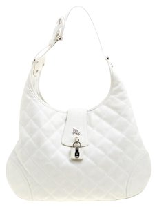 Burberry Leather Fabric Quilted Hobo Bag