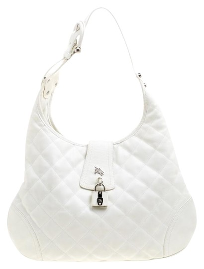 Burberry Leather Fabric Quilted Hobo Bag Image 0