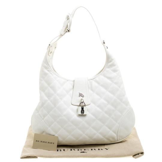 Burberry Leather Fabric Quilted Hobo Bag Image 11