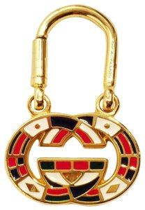 Gucci Vintage Gucci Gold Tone Key Ring Multi-color