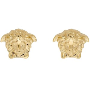 Versace Gold Tone Medusa Stud Medium Size Earrings