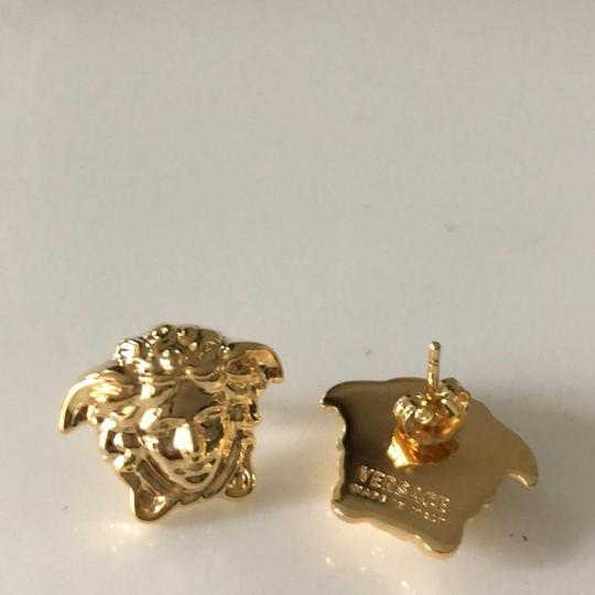 Versace Gold Tone Medusa Stud Medium Size Earrings Image 3