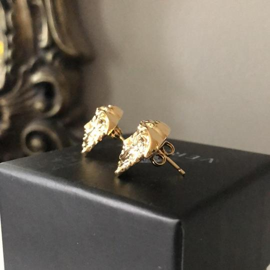 Versace Gold Tone Medusa Stud Medium Size Earrings Image 6