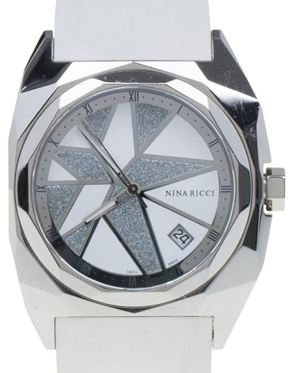 Preload https://img-static.tradesy.com/item/25830825/nina-ricci-white-and-silver-stainless-steel-star-women-s-wristwatch-40mm-watch-0-1-540-540.jpg