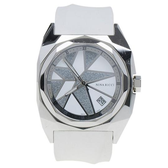 Nina Ricci White & Silver Stainless Steel Star Women's Wristwatch 40MM Image 2