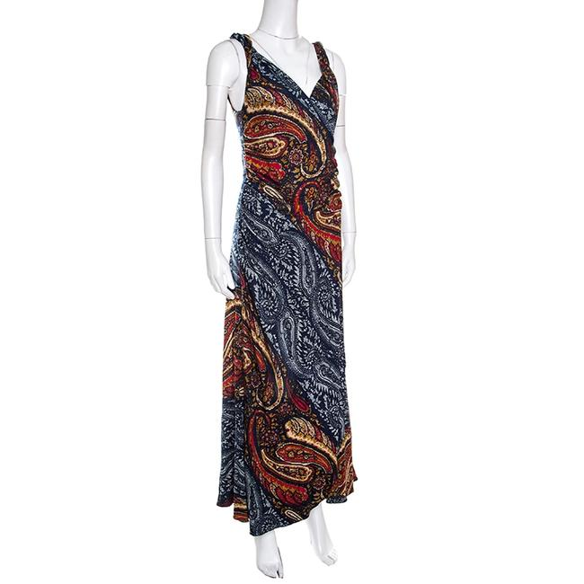Marc by Marc Jacobs Paisley Sleeveless Maxi Viscose Dress Image 2