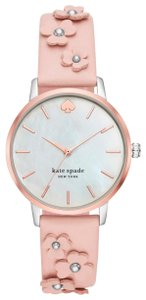 Kate Spade Kate Spade Metro Floral Vachetta Leather Watch