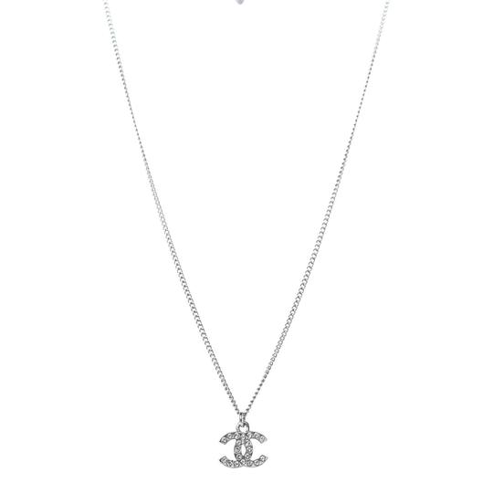 Chanel CHANEL Crystal Timeless CC Necklace Silver Image 1