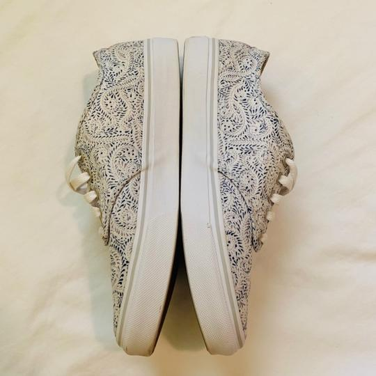 Vans white with paisley pattern Athletic Image 2