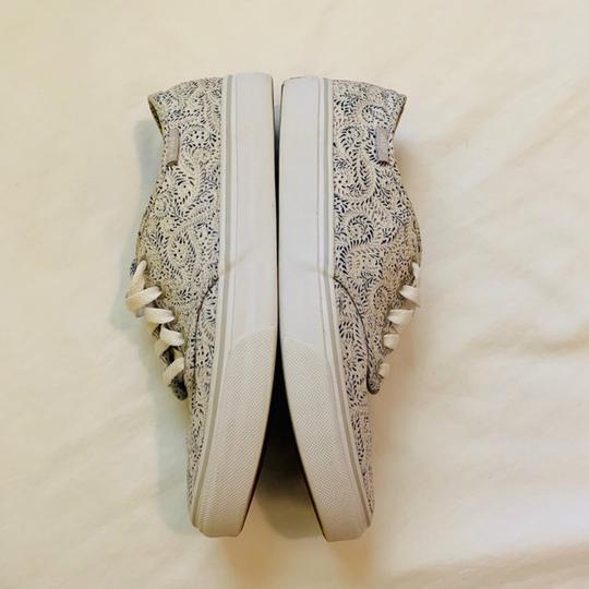 Vans white with paisley pattern Athletic Image 4