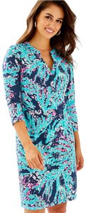 Lilly Pulitzer short dress High Tide Navy Coral Club on Tradesy