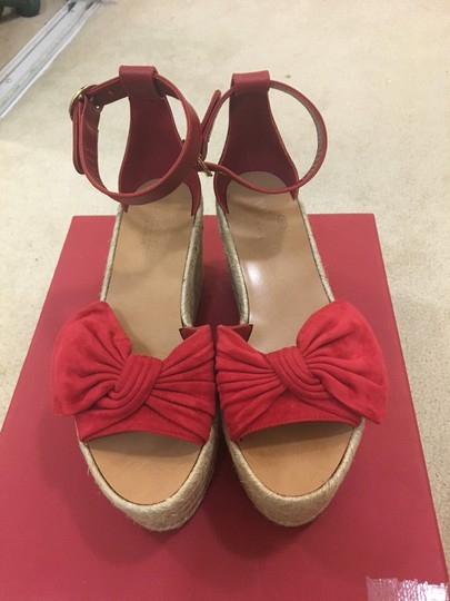 Valentino Red Wedges Image 1