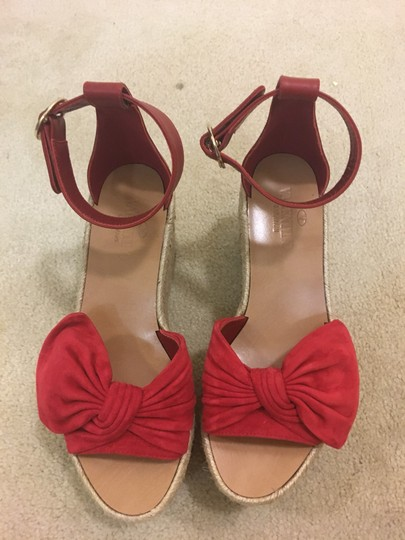 Valentino Red Wedges Image 11