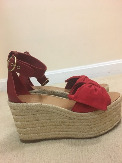 Valentino Red Wedges Image 4