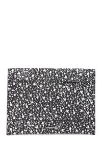 Rebecca Minkoff Leo Leather Envelope Studded Clutch Retail $145 Black and White