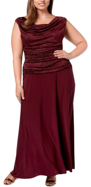 Preload https://img-static.tradesy.com/item/25831074/r-and-m-richards-merlot-ruched-glitter-gown-long-formal-dress-size-16-xl-plus-0x-0-1-650-650.jpg