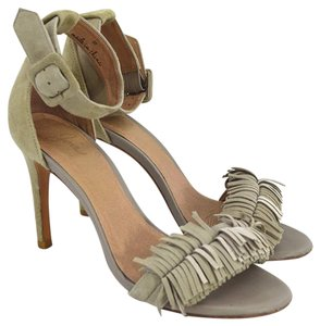 Joie #ankle Strap #tan #fall #open Toe #leather BEIGE Pumps