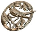 Coro Norseland By Coro Sterling Vintage brooch pin Image 0