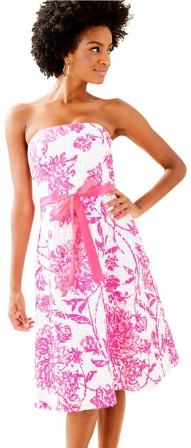 Item - Pink Sienna Strapless Mid-length Cocktail Dress Size 12 (L)