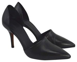 Vince #leather #pointed Toe #italian #modern #simple BLACK Pumps
