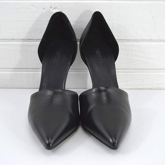Vince #leather #pointed Toe #italian #modern #simple BLACK Pumps Image 1