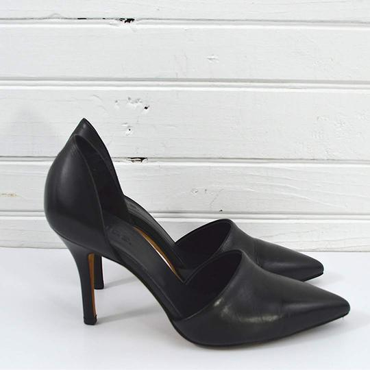 Vince #leather #pointed Toe #italian #modern #simple BLACK Pumps Image 2