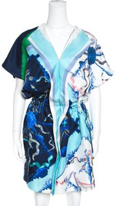 Escada Silk Draped Drop Waist Dress