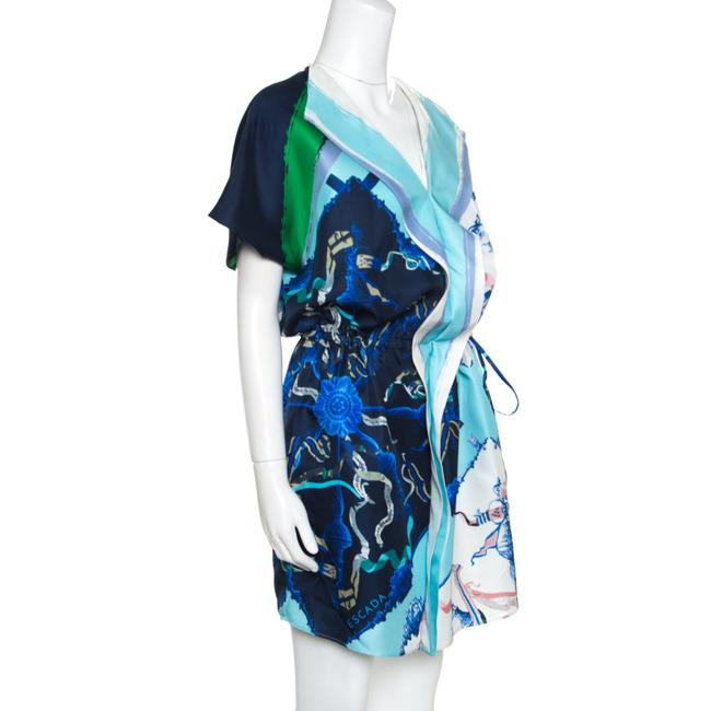 Escada Silk Draped Drop Waist Dress Image 1