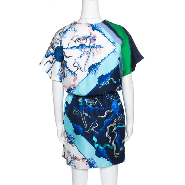 Escada Silk Draped Drop Waist Dress Image 2