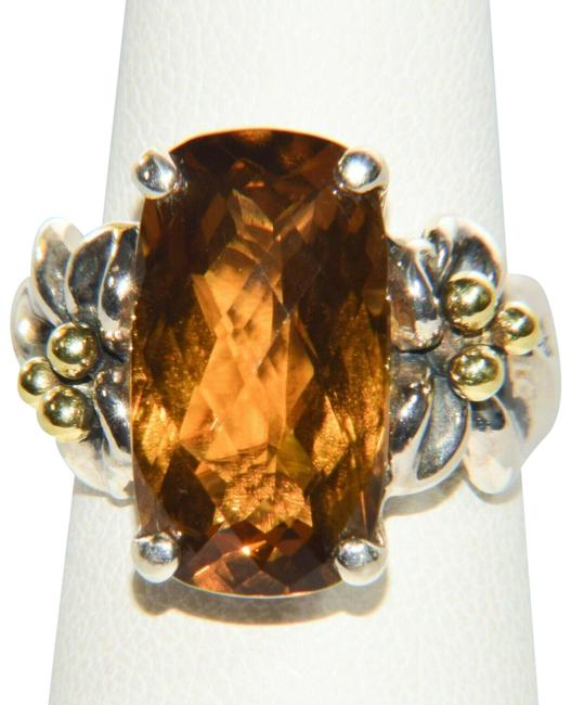 Item - Silver Sterling 18k Couture 7.0 Carat Cinnamon Quartz Si Ring