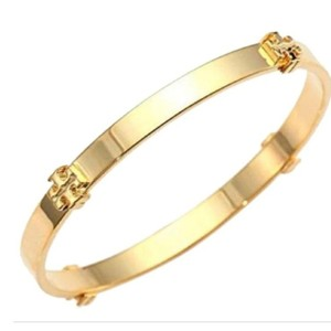 Tory Burch Tory Burch Gold Logo Bangle Bracelet