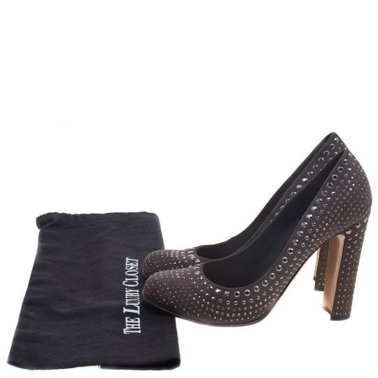 Prada Studded Suede Leather Grey Pumps Image 7