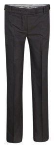 Chloé Striped Cotton Trouser/Wide Leg Jeans