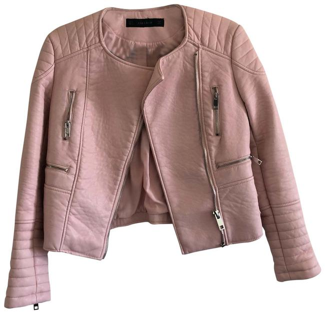 Item - Pink Faux Motorcycle Jacket Size 4 (S)