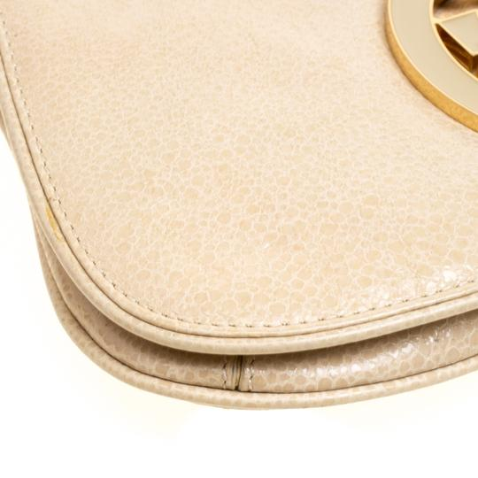 Tory Burch Leather Fabric Beige Clutch Image 6